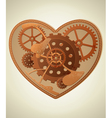 mechanical heart in the style of steampunk vector image