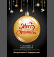 merry christmas party and gold box on dark vector image vector image