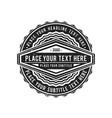 monochrome retro badge design vector image vector image
