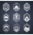 Mount badge set1white vector image vector image