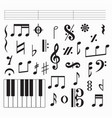 music symbols on white vector image