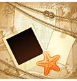 Nautical scrapbook template vector image vector image
