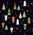 nice seamless spruce pattern vector image