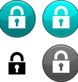 Padlock button vector image vector image