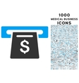 Payment Slot Icon with 1000 Medical Business Icons vector image