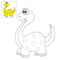 Picture for coloring a dinosaur vector image