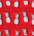pineapple groove-fruit delight seamless repeat vector image