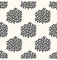 seamless geometric pattern with sea corals vector image