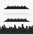 set city panorama elements vector image vector image