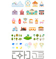 Set of elements for creating your own city vector image vector image