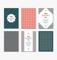 simple postcards template vector image vector image