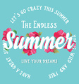 Summer posterTypography vector image vector image