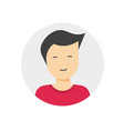 user profile or my account avatar login icon with vector image vector image