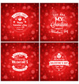 valentines day cards or poster design templates vector image vector image