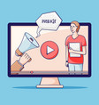 video tutorial webinar online education vector image vector image