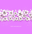 violet happy mothers day white floral greeting vector image vector image