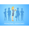 woman portrait secretary with coffee in h vector image vector image