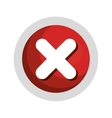 x button isolated icon vector image