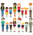 Young and old people on white background vector image vector image