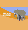 zoo or safari entrance with african animals vector image vector image