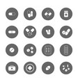 drug icons set vector image