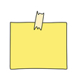 note paper drawing vector image