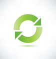 abstract circle symbol recycle icon vector image