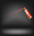red spray isolated vector image
