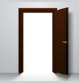 dark brown open door vector image