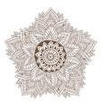 mandala or henna tattoo design ornamental round vector image