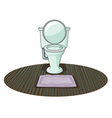A toilet bowl vector image
