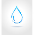 abstract blue water drop on gray background vector image vector image