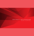 abstract red tone polygon geometric design vector image