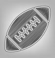 american simple football ball pencil vector image vector image