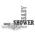 bashower clip art text word cloud concept vector image vector image