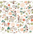 beauty seamless floral pattern vector image vector image