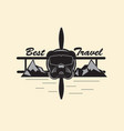 best travel logo vector image vector image
