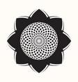 black flower 0004 vector image vector image