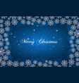 blue new year background with white snowflakes vector image vector image