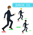 business man running to the top vector image vector image