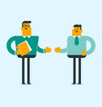 business partners are going to shake hands vector image