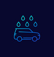 car wash line icon on dark vector image vector image