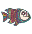 card with fish frame animal made in vector image vector image