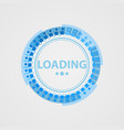 circular loading sign in a futuristic style vector image