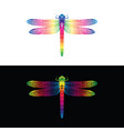 colorful dragonfly design on white background vector image