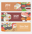 colorful horizontal banner templates with hand vector image vector image