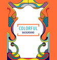 creative geometric colorful background vector image