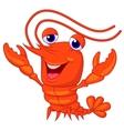 Cute lobster cartoon presenting vector image vector image
