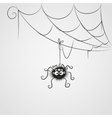 Cute spider vector image