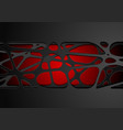 dark red abstract tech corporate paper cut vector image vector image
